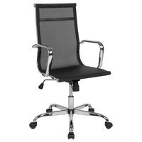 Flash Furniture H-966F-1-GG High-Back Black Mesh Swivel Office Chair