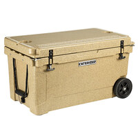 CaterGator CG65SPBW Beige 65 Qt. Mobile Rotomolded Extreme Outdoor Cooler / Ice Chest