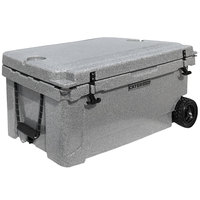 CaterGator CG65SPGW Gray 65 Qt. Mobile Rotomolded Extreme Outdoor Cooler / Ice Chest