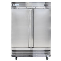 "Avantco CFD-2RR 54"" Two Section Solid Door Reach in Refrigerator - 46.5 Cu. Ft."