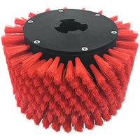MotorScrubber MS1049 7 1/2 inch x 5 1/2 inch Red Medium Duty Stair and Baseboard Brush