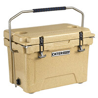 CaterGator CG20SPB Beige 20 Qt. Rotomolded Extreme Outdoor Cooler / Ice Chest