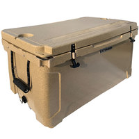 CaterGator CG100SPB Beige 100 Qt. Rotomolded Extreme Outdoor Cooler / Ice Chest