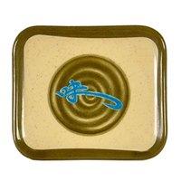 Wei 5 1/2 inch x 4 3/4 inch Rectangular Melamine Plate - 12/Pack