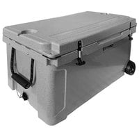 CaterGator CG100SPGW Gray 100 Qt. Mobile Rotomolded Extreme Outdoor Cooler / Ice Chest
