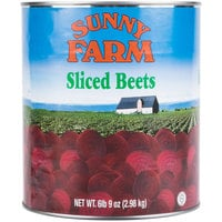 Sliced Beets - #10 Can - 6/Case