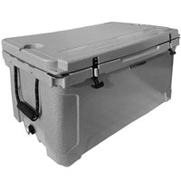 CaterGator CG100SPG Gray 100 Qt. Rotomolded Extreme Outdoor Cooler / Ice Chest