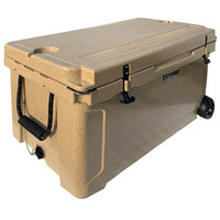 CaterGator CG100SPBW Beige 100 Qt. Mobile Rotomolded Extreme Outdoor Cooler / Ice Chest