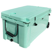 CaterGator CG100SFW Seafoam 100 Qt. Mobile Rotomolded Extreme Outdoor Cooler / Ice Chest