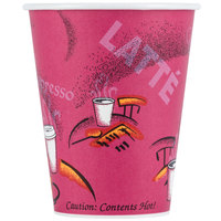 Dart Solo 378SI-0041 Bistro Print 8 oz. Poly Paper Hot Cup - 50/Pack