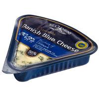St. Clemens 4.4 oz. PGI Danish Blue Cheese Wedge   - 18/Case
