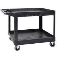 Luxor XLC11SP5-B Black Heavy-Duty 2 Shelf Utility Cart