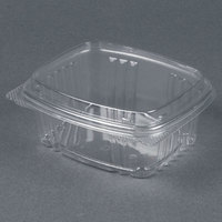 Genpak AD12F 5 3/8 inch x 4 1/2 inch x 2 7/8 inch  12 oz. Clear Hinged Deli Container with High Dome - 100 / Pack