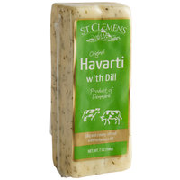 St. Clemens 7 oz. Danish Creamy Havarti Cheese Block with Dill - 12/Case