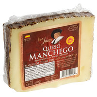 Don Juan 5.3 oz. DOP 6-Month Aged Manchego Cheese Wedge - 12/Case