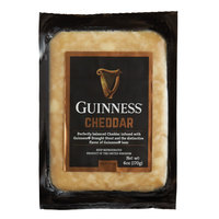 Guinness Cheddar 6 oz. Stout Beer Infused Cheese Wedge - 12/Case