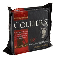 Collier's 7 oz. Powerful Welsh Cheddar Cheese Wedge - 12/Case