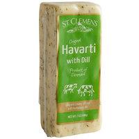 St. Clemens 7 oz. Danish Creamy Havarti Cheese Block with Dill