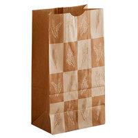 Bagcraft Packaging 300283 6 lb. EcoCraft Dubl-Wax® Kraft Bag with Artisan Print   - 500/Case