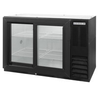 Beverage-Air BB48HC-1-GS-B-WINE 48 inch Black Sliding Glass Door Back Bar Wine Series Refrigerator