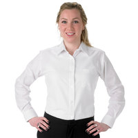 Henry Segal Women's Customizable White Long Sleeve Dress Shirt - Size 24