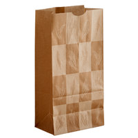 Bagcraft Packaging 300284 8 lb. EcoCraft Dubl-Wax® Kraft Bag with Artisan Print   - 500/Case