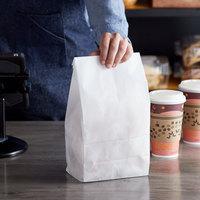 Bagcraft Packaging 300298 8 lb. Dubl-Wax® White Bag - 1000/Case
