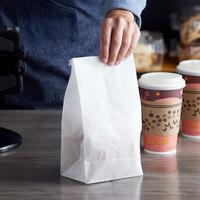 Bagcraft Packaging 300294 4 lb. Dubl-Wax® White Bag - 1000/Case