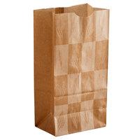 Bagcraft Packaging 300282 4 lb. EcoCraft Dubl-Wax® Kraft Bag with Artisan Print   - 500/Case