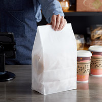 Bagcraft Packaging 300292 12 lb. Dubl-Wax® White Bag - 1000/Case