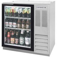 Beverage-Air BB36HC-1-G-S-WINE 36 inch Stainless Steel Glass Door Back Bar Wine Refrigerator