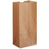 8 lb. Natural Kraft Waxed Paper Bag - 1000/Case