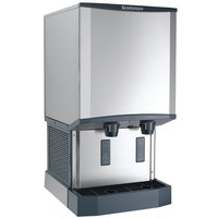 Scotsman HID540AW-1 Meridian Wall Mount Air Cooled Ice Machine and Water Dispenser - 40 lb. Bin Storage