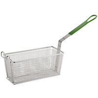 Prince Castle 77-P 13 1/4 inch x 5 5/8 inch x 5 11/16 inch Fry Basket with Front Hook and Plastisol Handle