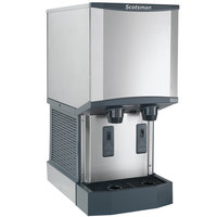 Scotsman HID312AW-1 Meridian Wall Mount Air Cooled Ice Machine and Water Dispenser - 12 lb. Bin Storage