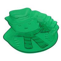 Fineline CSM720.CST Platter Pleasers Christmas Mix Snowman Platter   - 24/Case