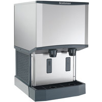 Scotsman HID525AW-1 Meridian Wall Mount Air Cooled Ice Machine and Water Dispenser - 25 lb. Bin Storage