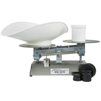 Cardinal Detecto 1052TBSKG 5 kg. Stainless Steel Baker's Dough Scale with Scoop - 500 g x 5 g Beam Grads