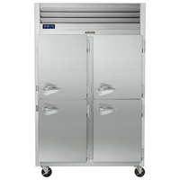 Traulsen G20007P 2 Section Solid Half Door Pass-Through Refrigerator - Right / Right Hinged Doors