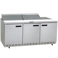 Delfield 4472N-24M 72 inch 3 Door Mega Top Refrigerated Sandwich Prep Table
