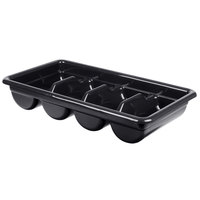 Cambro 1120CBPL110 Poly Cambox Black Four Compartment Polyethylene Cutlery Box
