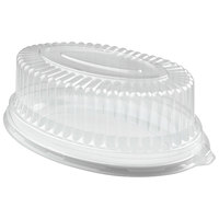 Fineline 9515-L Platter Pleasers 8 inch x 12 inch Clear Plastic Oval Tray Dome Lid - 50/Case