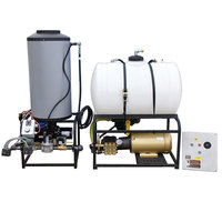 Cam Spray 2555STATLEF Stationary LP Gas Fired Electric Hot Water Pressure Washer with 50' Hose - 2500 PSI; 5.5 GPM
