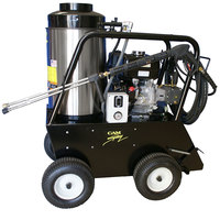 Cam Spray 3035QH Portable Gas Hot Water Pressure Washer with 50' Hose - 3000 PSI; 3.5 GPM