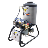 Cam Spray 4040STLEF Stationary LP Gas Fired Electric Hot Water Pressure Washer with 50' Hose - 4000 PSI, 4.0 GPM