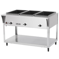 Vollrath 38203 ServePan SL Electric Three Pan Hot Food Table 120V - Sealed Well