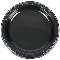 Genpak BLK07 Silhouette 7 inch Black Heavy Weight Plastic Plate - 1000/Case