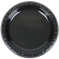 Genpak BLK07 Silhouette 7 inch Black Premium Plastic Plate - 1000/Case