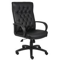Boss B8501-BK Black Button Tufted Executive Chair
