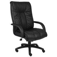 Boss B9301 Black Italian Leather High Back Executive Chair